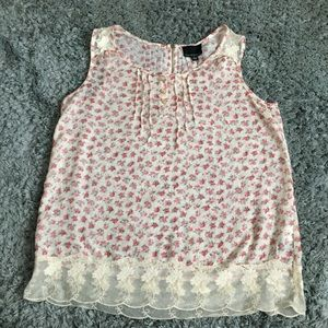 Cynthia Rowley floral & lace top